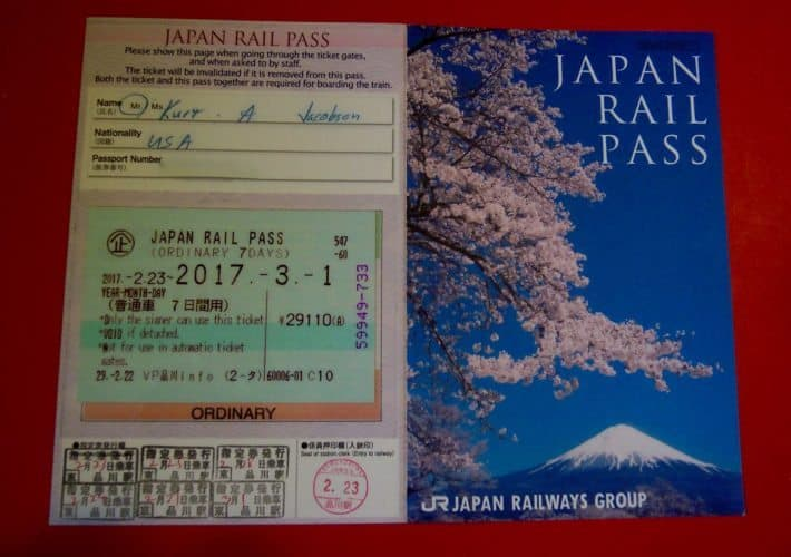 JR Rail pass 2017