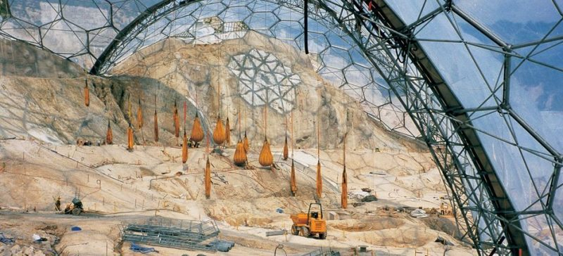Construction on the Eden Project
