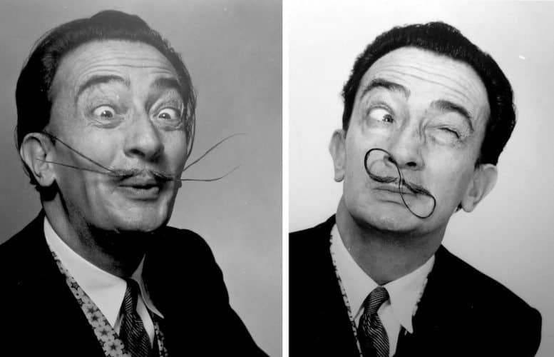 Photos of Salvador Dali line the walls of his museum in Figueres. Courtesy of the Dali Theatre-Museum.