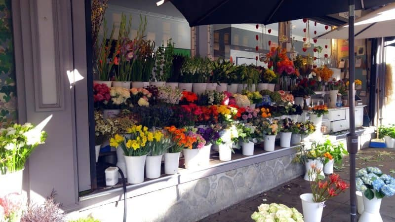 A flower market in Cow Hollow, San Francisco.