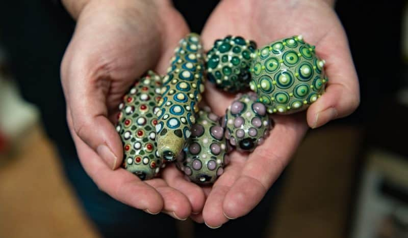 Alessia's unique bead creations are an artistic blend of color and design.
