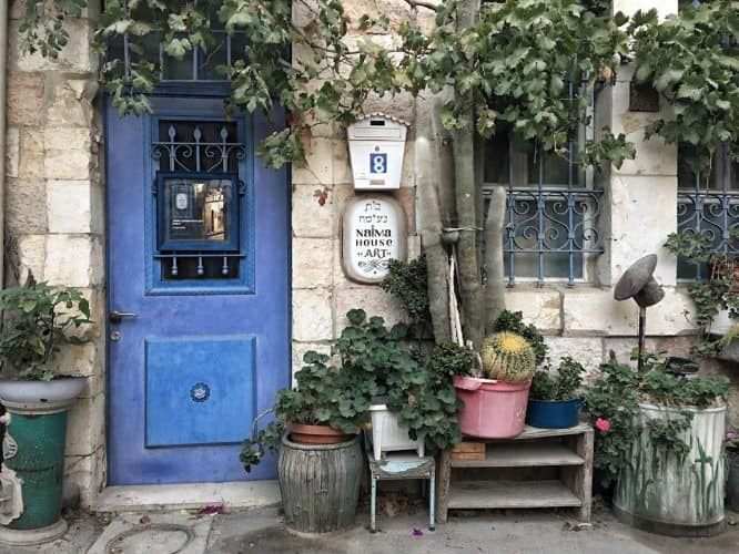 A house in the market area of Jerusalem.