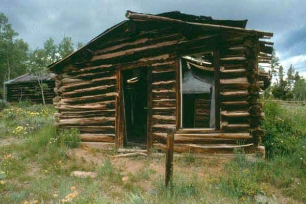 A cabin in the abandoned ghost town of Miner's Delight, Wyoming.