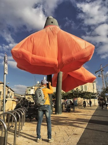 Modern art near the Machane Yehuda market.