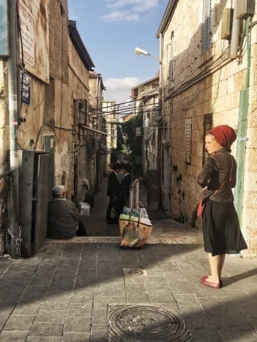 A narrow street in Jerusalem's Old City.