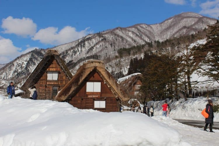 Shirakawa-go, a World Heritage site with historic houses in Northern Japan