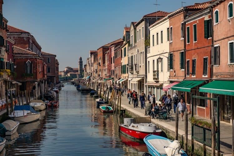 The vibe of Murano is pleasantly laid back compared to the hustle and bustle of nearby Venice. Donnie Sexton photos.