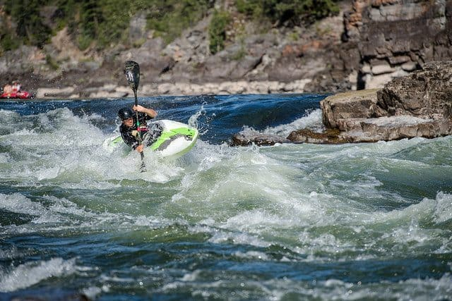 Navigating the rapids in Montana.