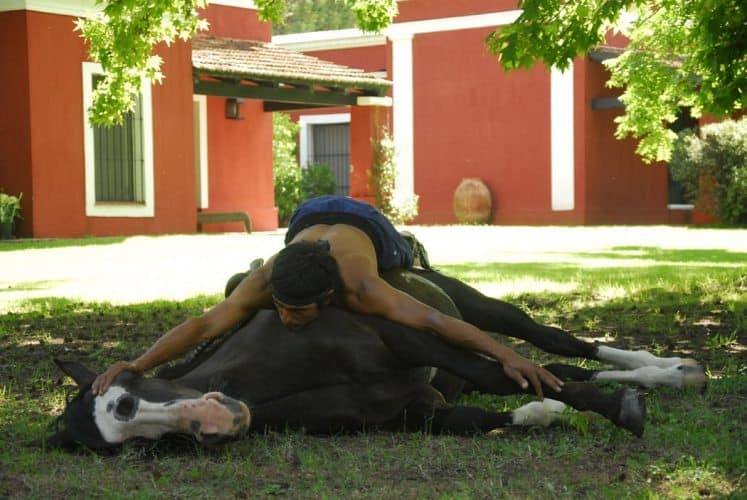 Gaucho demonstrating horseman skills at La Bamba. Photo: La Bamba