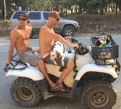 ATVs are a main source of transportation in Santa Teresa.