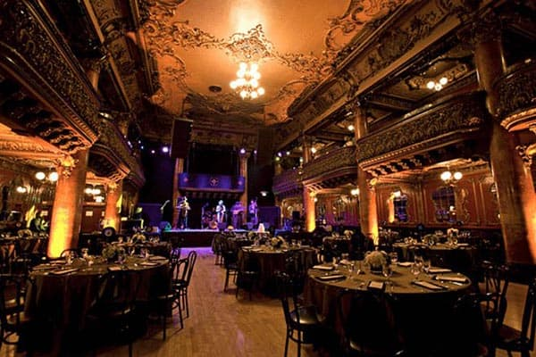 The Great American Music Hall is known for its unique interior design.