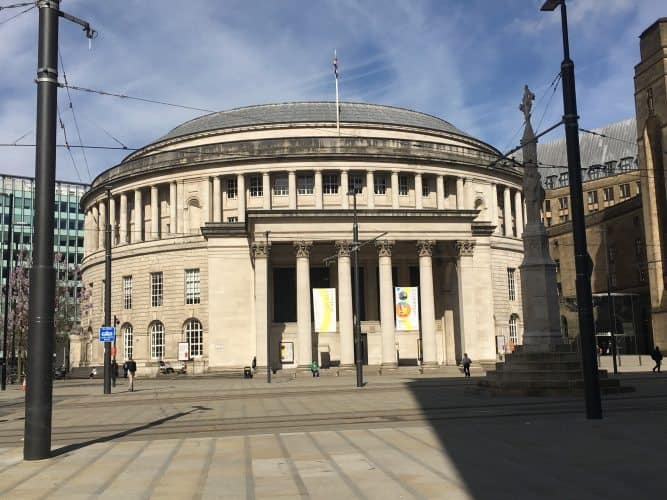 The library in Manchester, England.