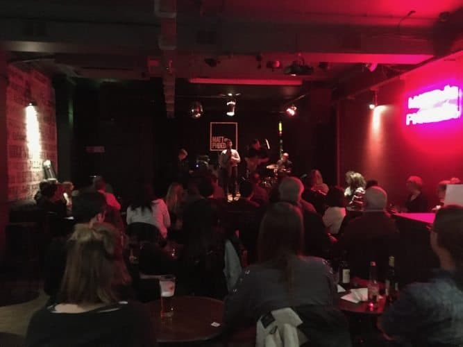 Matt and Phreds is a music club that features live jazz and other music seven nights a week in the Manchester's Northern Quarter.