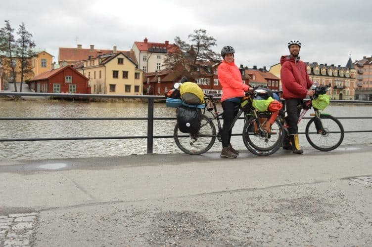 A chilly morning biking in Eskilstuna, Sweden.