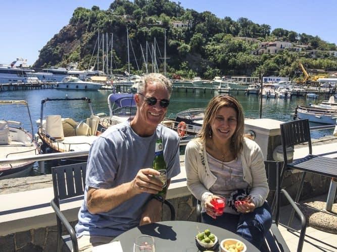 John and Marina at Chalet Vicidomini on Procida, Italy.