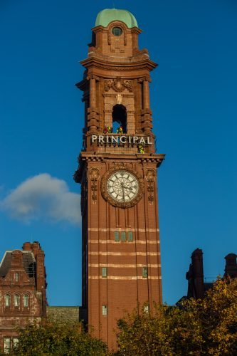 It's hard to miss the sign on the tower for the recently renovated Principal Hotel Manchester on Oxford Road.
