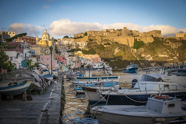 Fishing remains big in Procida, Italy.