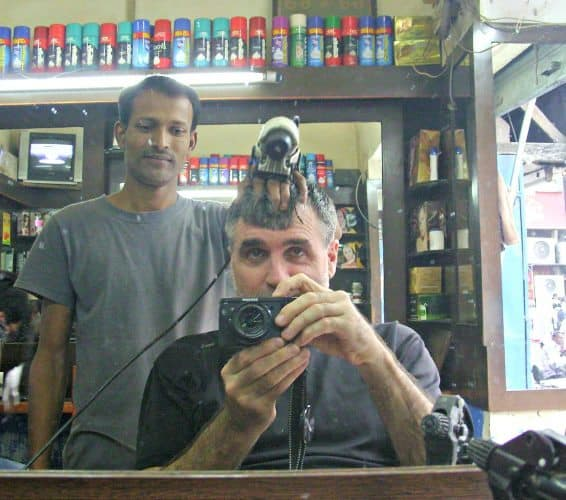 At the Punjab Hair salon in New Delhi, India.
