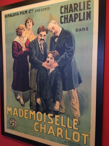 A movie poster in the newly opened Charlie Chaplin museum in Vevey, Switzerland. Cathie Arquilla photos.