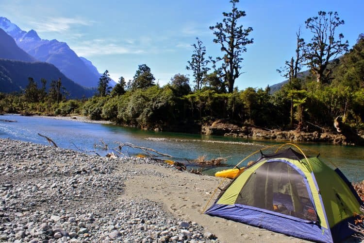 A streamside camping site away from the masses on New Zealand's beautiful south island. Krista Langlois photos.
