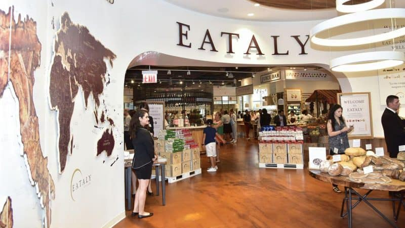 Eataly's second location in the 4 World Trade Center. Get your Italian on at this remarkable marketplace. Photo by ABC7 New York.