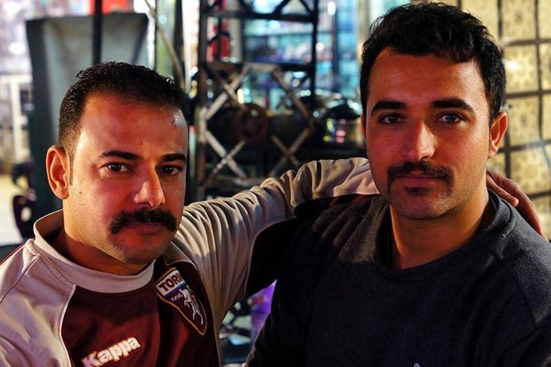Owners of one of Iskans Kebab carts