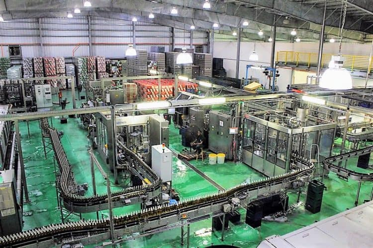 The workings of the Bahamian Brewery.