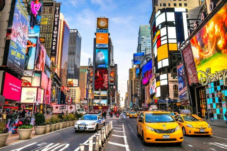Times Square in New York City, it's an exciting place to visit.