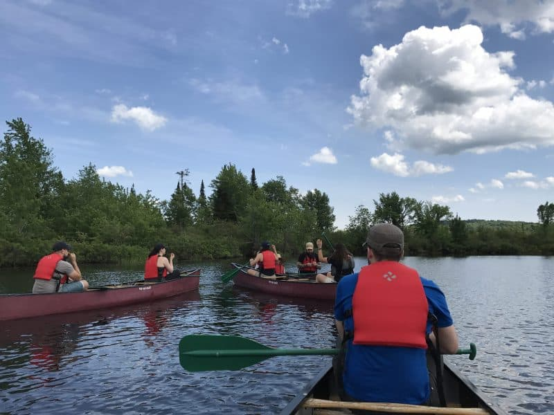 Canoeing down the Raquette River's Oxbow, learning about marsh habitats that thrive in the river. Not to mention, seeing a bald eagle up close!