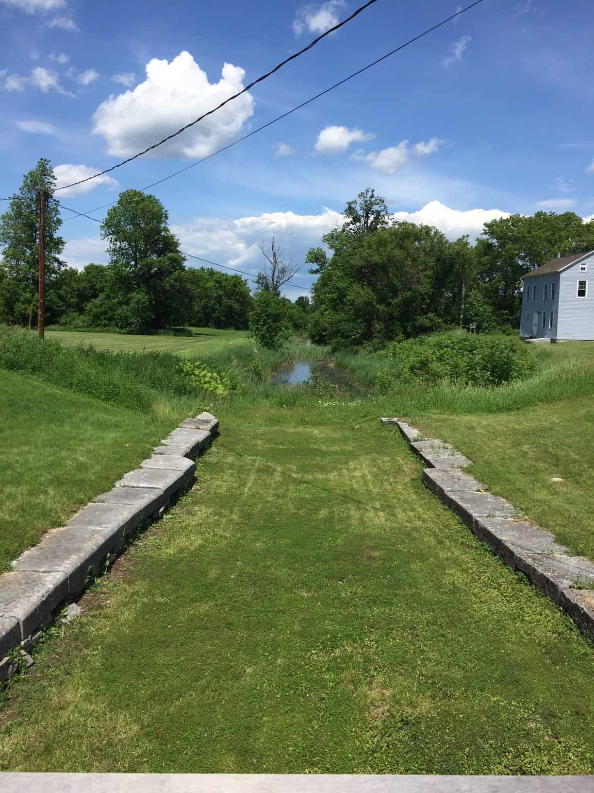 The original starting point of the first Erie Canal in Fort Hunter NY.