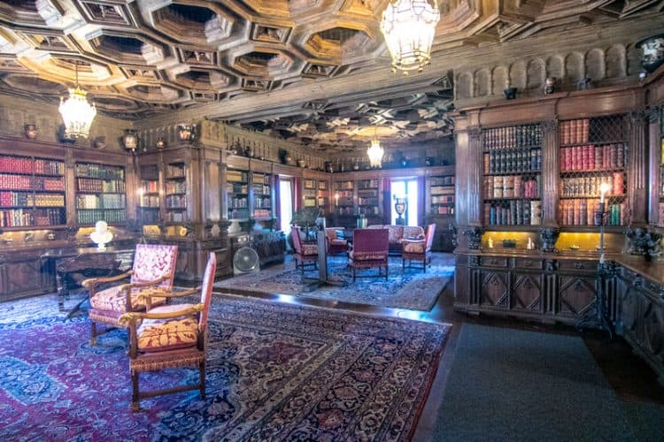 The Main Library at Hearst Castle.