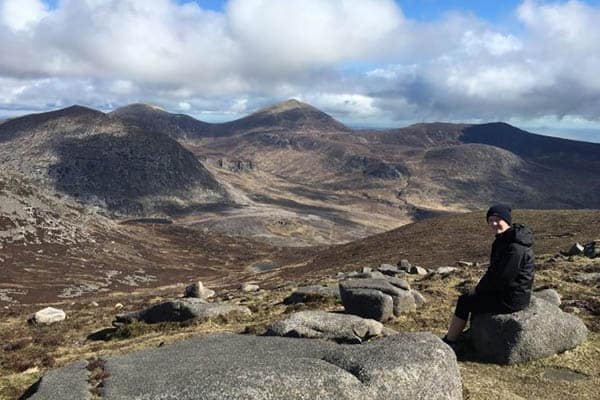 View from the route up to the summit of Slieve Binnian, County Down, Northern Ireland. Kate Skingley photos.