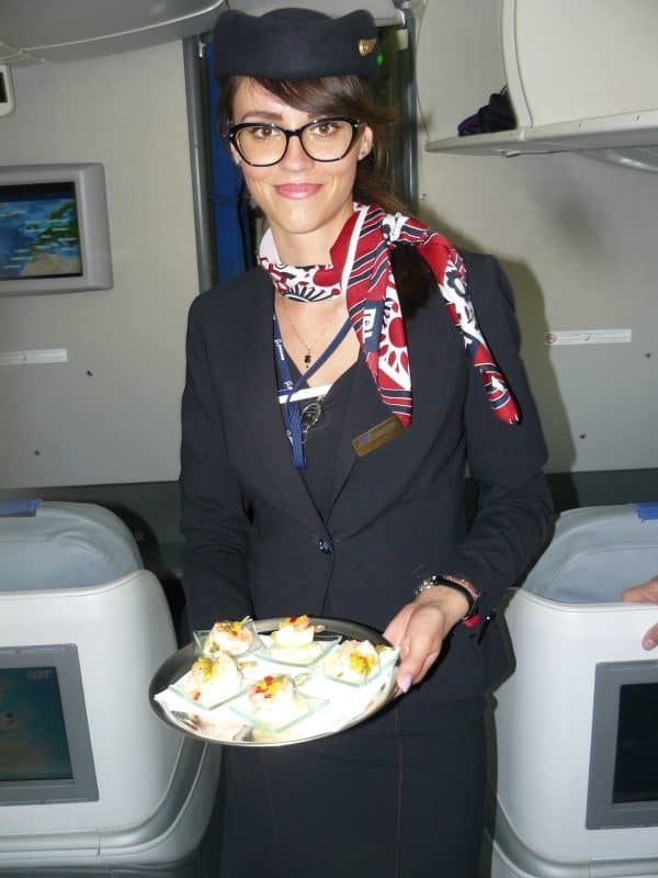 flight attendant on Polish Airlines