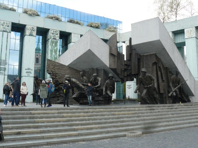 The monument to the fighters of the Warsaw Uprising