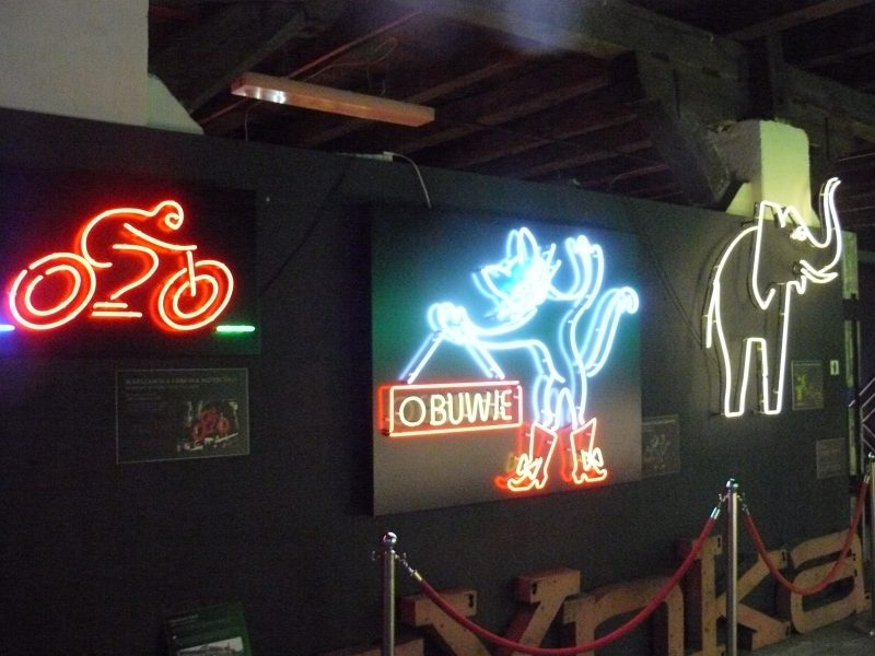 The Neon Museum in the Praga District of Warsaw