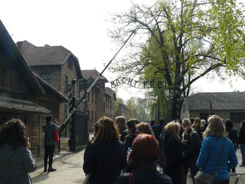 The entrance to the Auschwitz-Birkenau Museum