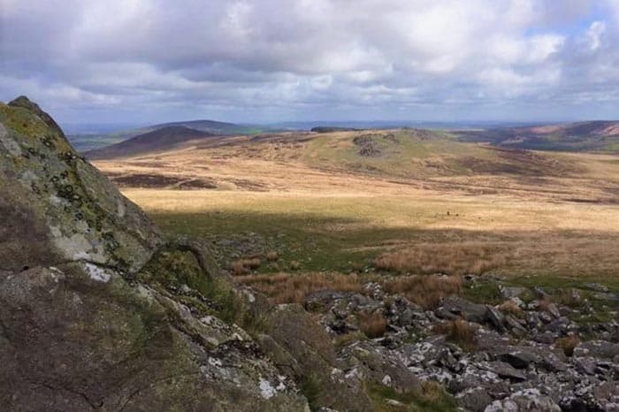 Panoramic Views, Preseli Hills in Wales, England.