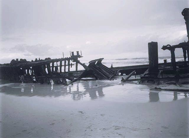 The wreck of the SS Maheno on Fraser Island.