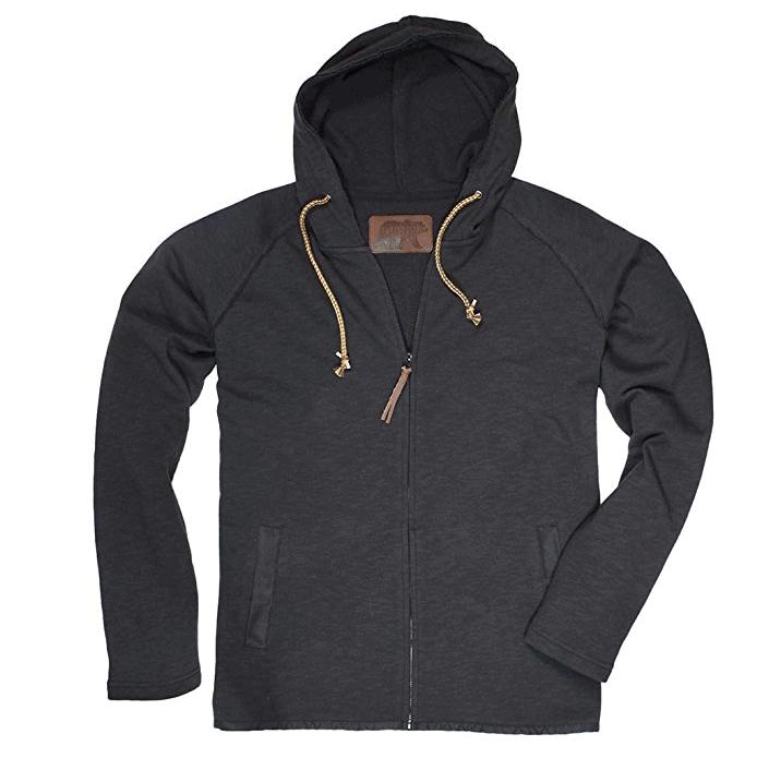 Dakota Grizzly Men's Hoyt Long Sleeve Rugged Fit Light Weight Full Zip Slub Hoodie