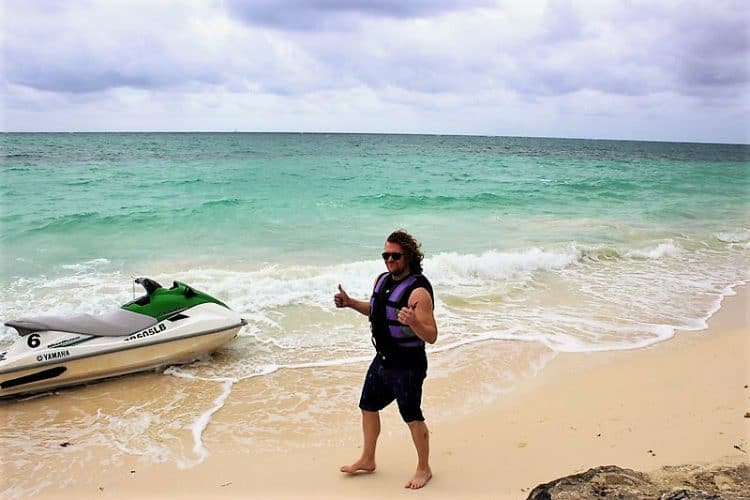 The author with his watercraft.