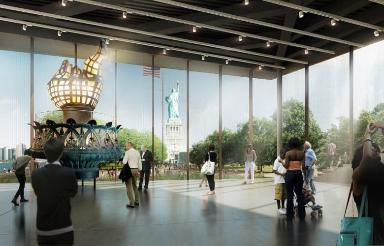 The inside of the Statue of Liberty Museum, expected to be completed by 2019. Photo by Curbed NY.
