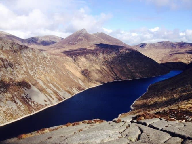 The view from Slieve Binnian (Silent Valley Reservoir), County Down, Northern Ireland.