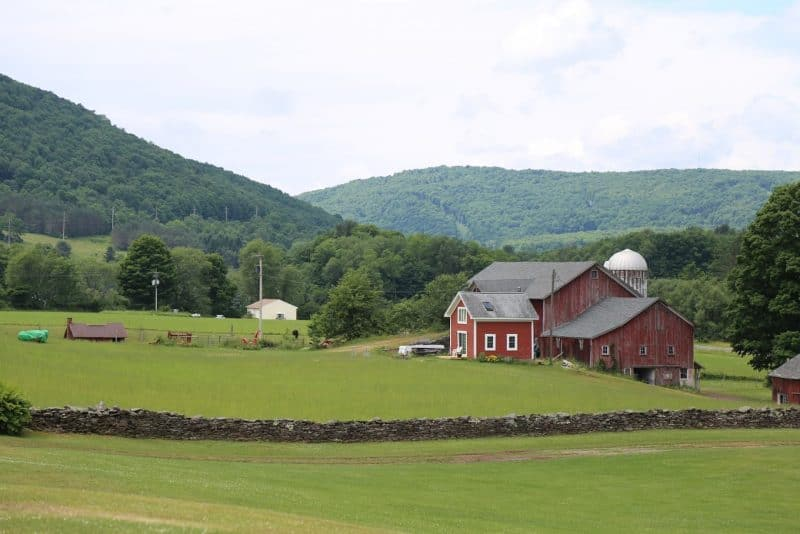 A barn outside of Delhi, New York in the Catskills.