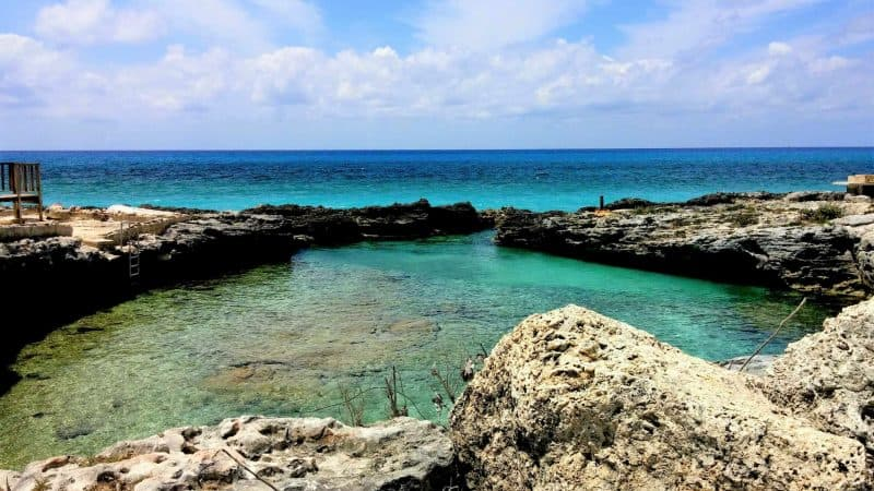 The boiling hole is famous on Grand Bahama.