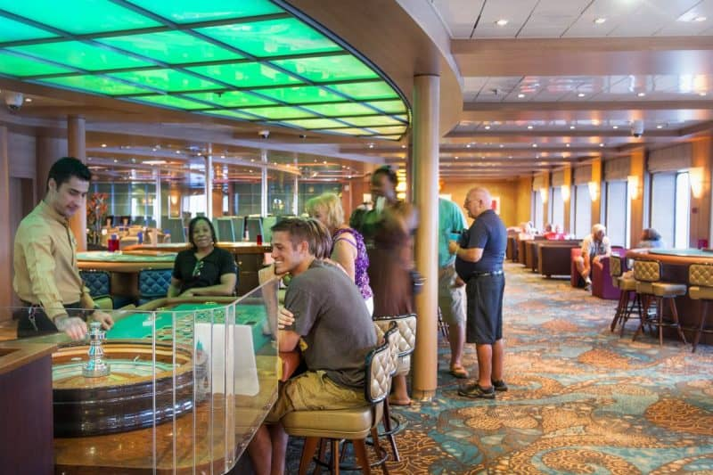 Casinos on board are a treat for many cruisers, something for mom and dad and a great big pool for the kids.