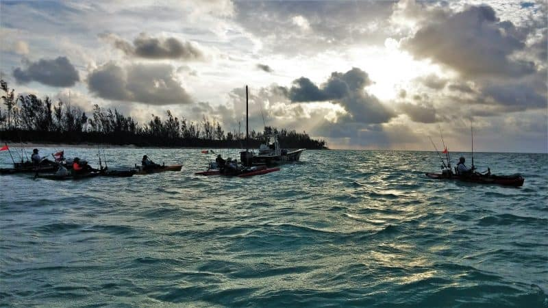 Extreme kayaking in the Bahamas. Fishermen compete in the Grand Bahama fishing tournament . Christopher Ludgate photos.