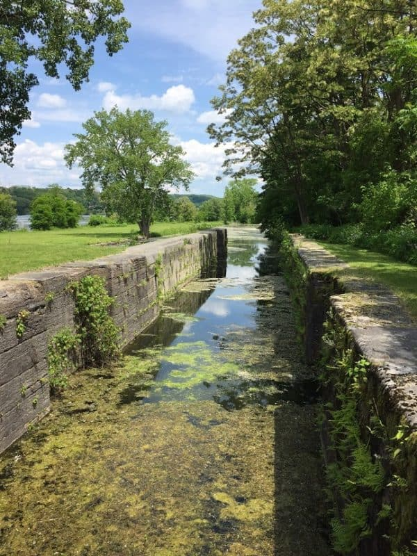 Yankee Hill Lock, one of the original locks in the first Erie Canal.
