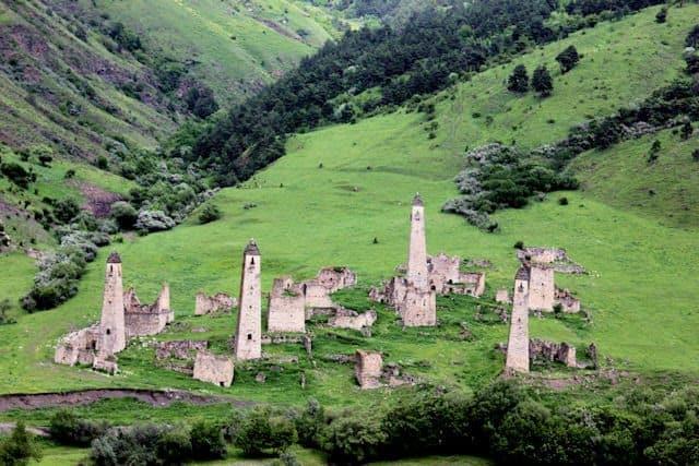 Targim defensive towers in northern Georgia.