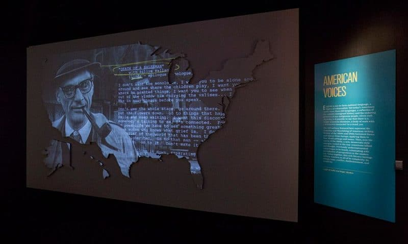 "The ""Nation of Writers"" exhibit teaches visitors about the American voice in writing across all genres and mediums throughout history. Photo courtesy of Barry Brecheisen"