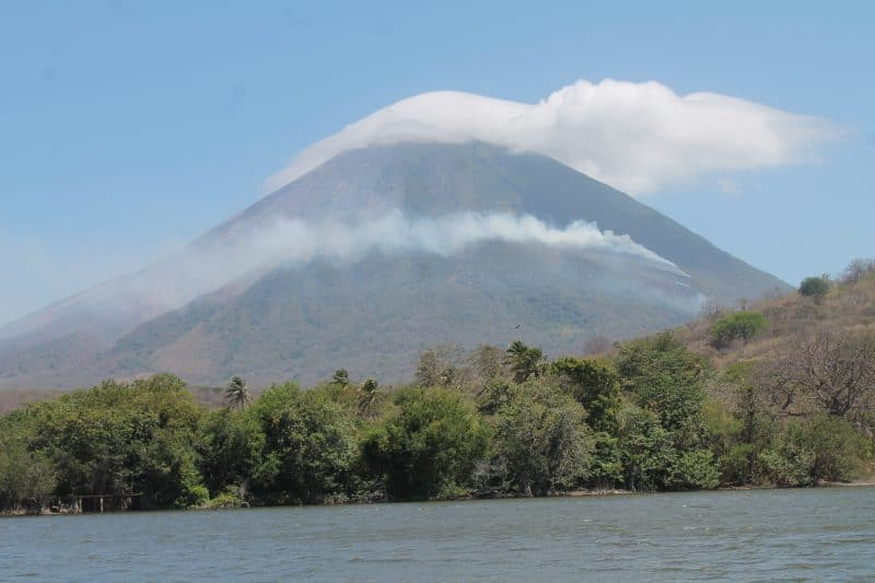 Concepcion is one of the two volcanoes on Ometepe Island, Nicaragua.